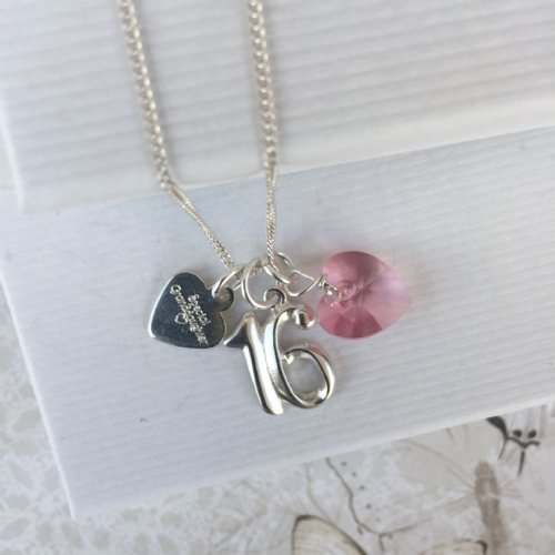 16th birthday silver jewellery gift for a granddaughter